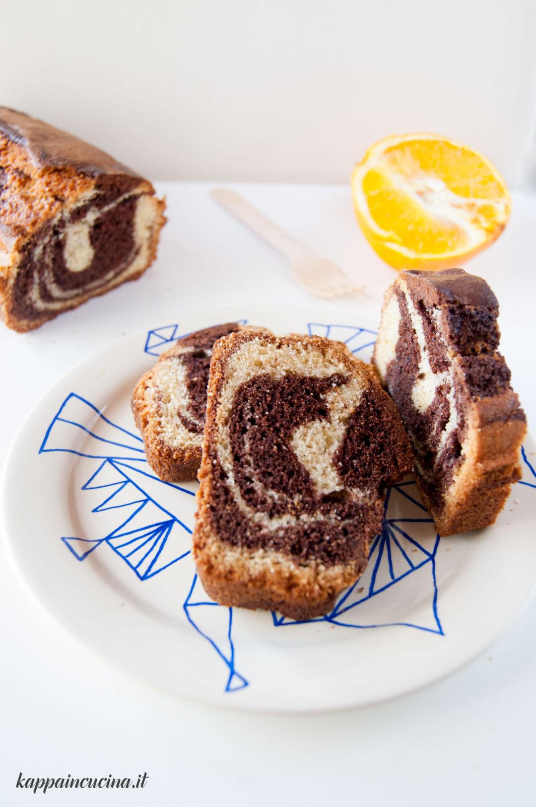 plumcake marmorizzato arancia cioccolato
